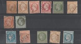 """Un Petit Lot De 13 Timbres """"Napoléon - Cérès """" Bien Voir Scanne Verso - 1853-1860 Napoleone III"""