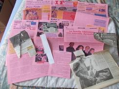 COPIE Lot De Documents En Rapport Avec Le Cirque Pinder - Vecchi Documenti