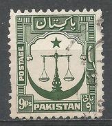 Pakistan 1948. Scott #26 (U) Scales, Star, Crescent - Pakistan