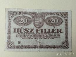 20 Filler 1920 - Ungheria