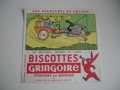 Le Meunier Gringo Et Ane Biscottes Gringoire   Buvard - Zwieback