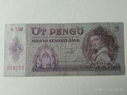 5 Pengo 1939 - Ungheria