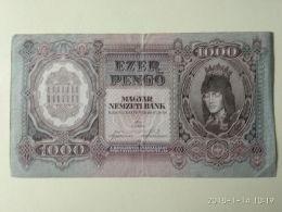 1000 Pengo 1943 - Ungheria