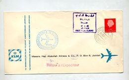Lettre Premier Vol Klm Amsterdam Jeddah - Airplanes
