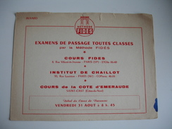 Methode Fides Passage Examen Saint Cast Institut Chaillot    Buvard - Blotters