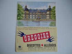 Biscottes Gregoire Chateau De Serrant Chate Buvard - Zwieback