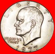 √ LUNAR DOLLAR (1971-1999): USA ★ 1 DOLLAR 1977D AUNC! LOW START ★ NO RESERVE! Dwight D. Eisenhower (1890-1969) - Emissioni Federali