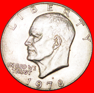 √ LUNAR DOLLAR (1971-1999): USA ★ 1 DOLLAR 1978D AUNC! LOW START ★ NO RESERVE! Dwight D. Eisenhower (1890-1969) - Emissioni Federali
