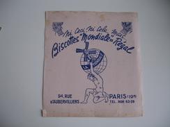 Biscottes Mondial Regal  Buvard - Zwieback