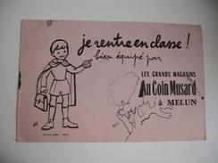 Melun Au Coin Musard Je Rentre En Classe  Buvard - Blotters