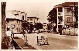 "07167 ""NIGEGIA - LAGOS - BROAD STREET""  ANIMATA,  AUTO, VERA FOTOGRAFIA. CART  SPED 1957 - Nigeria"