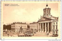 BRUXELLES-PLACE ROYALE-TRAM 9 -PUBLICITE PERSIL-STATUE GODEFROID DE BOUILLON-EGLISE SAINT JACQUES - Places, Squares