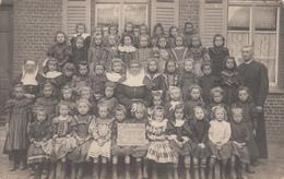 Handzame  Kortemark  FOTOKAART  1909 Vrije School 2° Klas - Kortemark