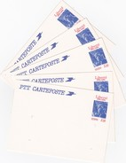 FRANCE - LOT 5 ENTIER POSTAUX LIBERTE 1886-1986 2.50  / 3 - Postal Stamped Stationery