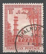 Pakistan 1954. Scott #69 (U) Emperor Jahangir's Mausoleum, Lahore - Pakistan