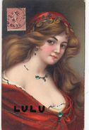 FEMMES N° 178 : Peinture Portrait , Paillettes + 2 Pierres - Femmes