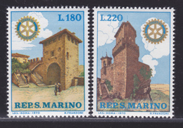 SAINT-MARIN N°  764 & 765 ** MNH Neufs Sans Charnière, TB (D4405) Rotary-Club - Saint-Marin