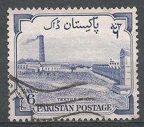 Pakistan 1955. Scott #74 (U) Textile Mill - Pakistan