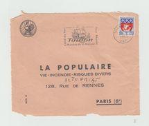 """Devant D'enveloppe 1963 - TOULON -  Flamme """" Toulon Musée De La Marine  """" - Marcophilie (Lettres)"""