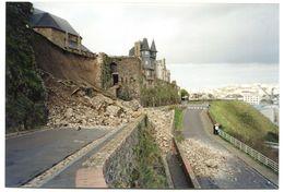 """Carte-photo """"L'effondrement Des Murailles De La Haute-Ville 2001"""" Granville - Manche - Normandie - Repro's"""