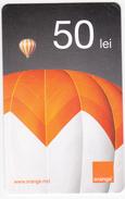 Moldova ,  Moldavie  Moldau ,  Prepaid Phonecard - Orange , 2014 ;  50 Lei , Paper , Used - Moldova