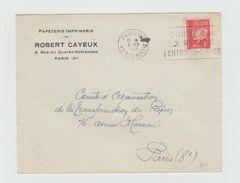 LSC 1941 - Entête Papeterie Imprimerie   - Robert CAYEUX - PARIS + Flamme Sur Timbre Pétain - Marcophilie (Lettres)