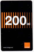 Moldova ,  Moldavie  Moldau ,  Prepaid Phonecard - Orange , 2017 ;  200 Lei , Paper , Used - Moldavie
