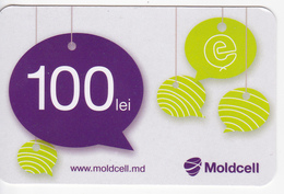 Moldova , Moldavie  Moldau , Prepaid  Phonecard - Moldcell , 100 Lei , Paper , Used - Moldova