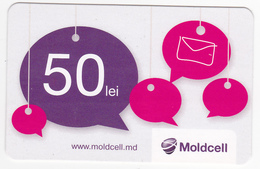 Moldova , Moldavie  Moldau , Prepaid  Phonecard - Moldcell , 50 Lei , Paper , Used - Moldova