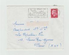 """LSC 1959 -  Flamme ERQUY PLAGES  """"son Port Ses Plages"""" - Marcophilie (Lettres)"""