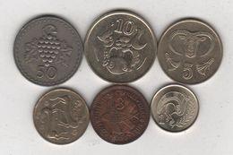 Chypre - Lot De 6 Monnaies - D/522 - Cyprus