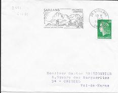 DROME 26  -- SAILLANS  - FLAMME N° 2551   - VOIR DESCRIPTION  -  1976 - - Postmark Collection (Covers)