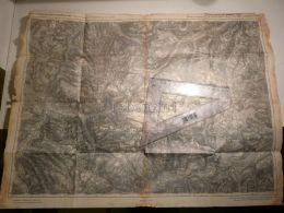 Silvretta Nordrhaetischen Alpen Suisse Map Karte 1924 - Landkarten