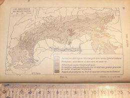 Alpen Alpes Alpin Map Karte 1926 - Maps