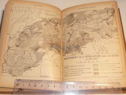 Alpen Alpes Population Bevölkerung Map Karte 1926 - Maps