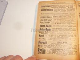 Amsterdam Aschaffenburg Assmannshausen Augsburg Bad Aussee Baden Baden Basel Bastei Bayreuth Berlin Germany Hotel 1914 - Publicidad