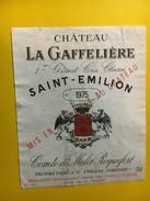 6475 - Château La Gaffelière 1975 Saint-Emilion - Bordeaux