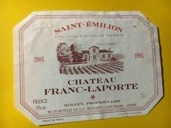 6481 - Château Franc-Laporte 1985 Saint-Emilion - Bordeaux