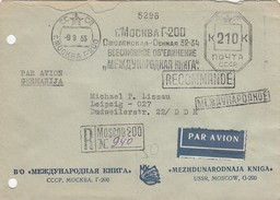 RUSSIA COVER MOSCOW GERMANY - 1923-1991 URSS