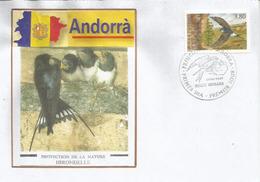 ANDORRA. L'hirondelle En Andorre. FDC 1997 - Swallows