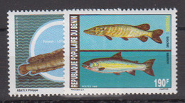 BENIN       1989                .     676  / 677           COTE   3 , 60    EUROS         ( S 447 ) - Benin - Dahomey (1960-...)