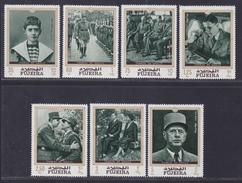 FUJEIRA AERIENS N°   33 ** MNH Neufs Sans Charnière, 7 Valeurs, TB (D4410) De Gaulle - Fujeira
