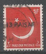 Pakistan 1961. Scott #127 (U) Crescent And Star - Pakistan