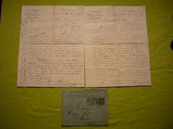 Facture + Enveloppe Illustrées 1889 Déjardin Vins Et Spiritueux à Aigues-Vives 30 - France