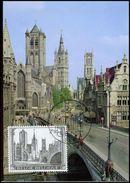 BELG.1971 1594 - MK - Gent, St-Niklaaskerk, Belfort En St-Baafskathedraal - 1971-1980