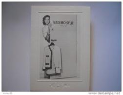 """Carte De Voeux """"CHANEL"""" Sur Papier Gauffrée """"Mademoiselle""""  1989 - Maps"""