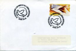 1995 Circulated Letter From Spain With Special Cancel Of Peace, Dove, Bosnia. Paloma, Paz, Bosnia Hercegovina - 1931-Today: 2nd Rep - ... Juan Carlos I