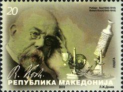 Macedoine Macedonia 0540 Koch, Tuberculose, Microscope - Ziekte