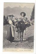 19068 - Précieux Fardeau Vaudoise Avec Enfants Et âne Cachet Les Plans 1903 - VD Vaud