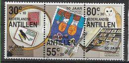 1988 ANTILLES NEERLANDAISES 843A  **  Philatélie, Chouette, Timbre Sur Timbre - Curaçao, Nederlandse Antillen, Aruba